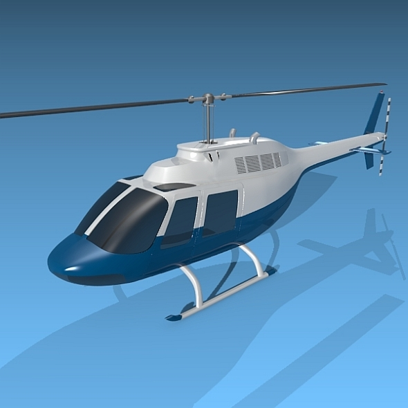 Bell 206 private helicopter - 3DOcean Item for Sale