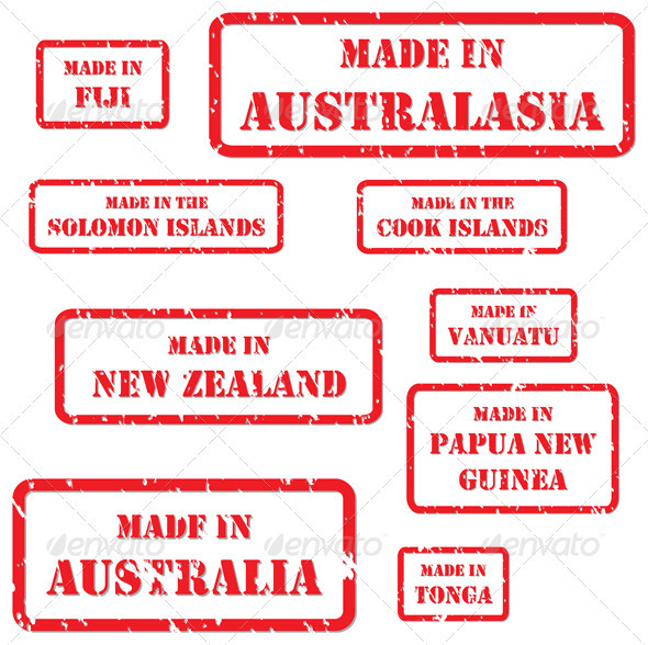 GraphicRiver Made in Australasia Rubber Stamps 3918392
