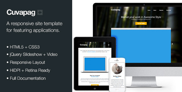 Cuvapag - Responsive Software and App Website - Technology Landing Pages