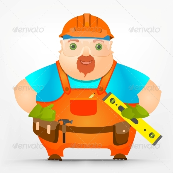 GraphicRiver Cheerful Chubby Men 3918656