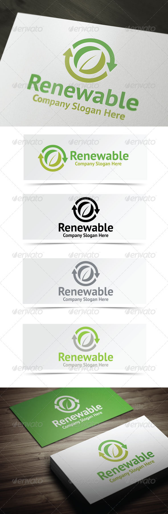 GraphicRiver Renewable Resources Logo 3722253
