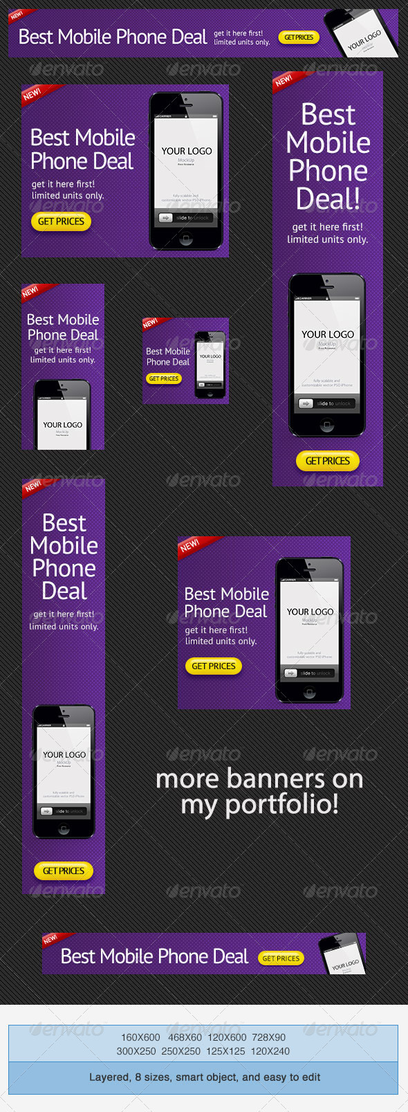 GraphicRiver Phone Deals Banner Ad PSD Template 3844786