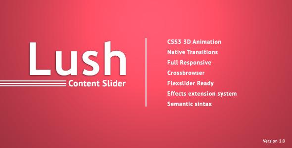 CodeCanyon Lush Content Slider 3918728