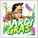 Carnival and Mardi Gras Flyer