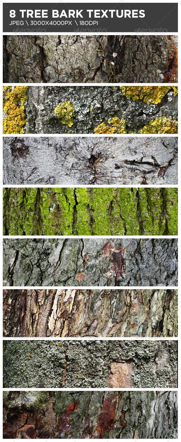 GraphicRiver 8 Tree Bark Textures 3918779