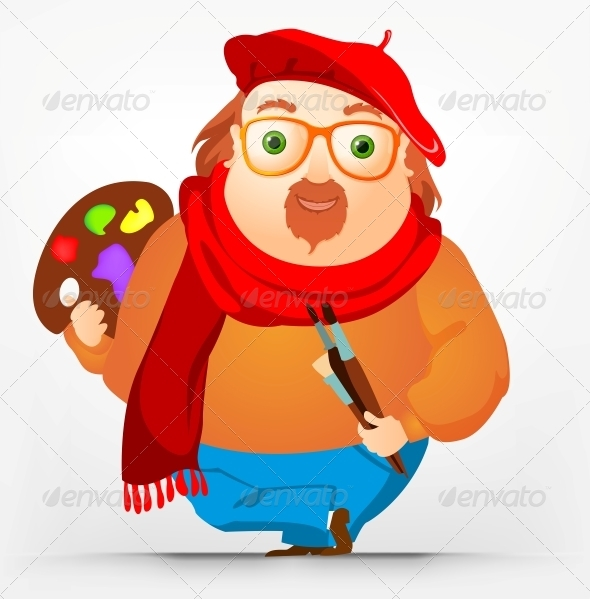 GraphicRiver Cheerful Chubby Men 3918902