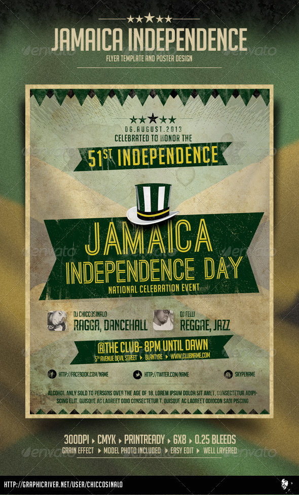Jamaica Independence Day Flyer - Events Flyers