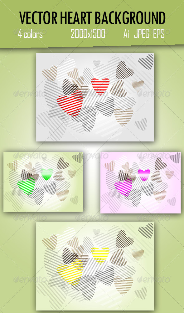 GraphicRiver Heart Background 3781673