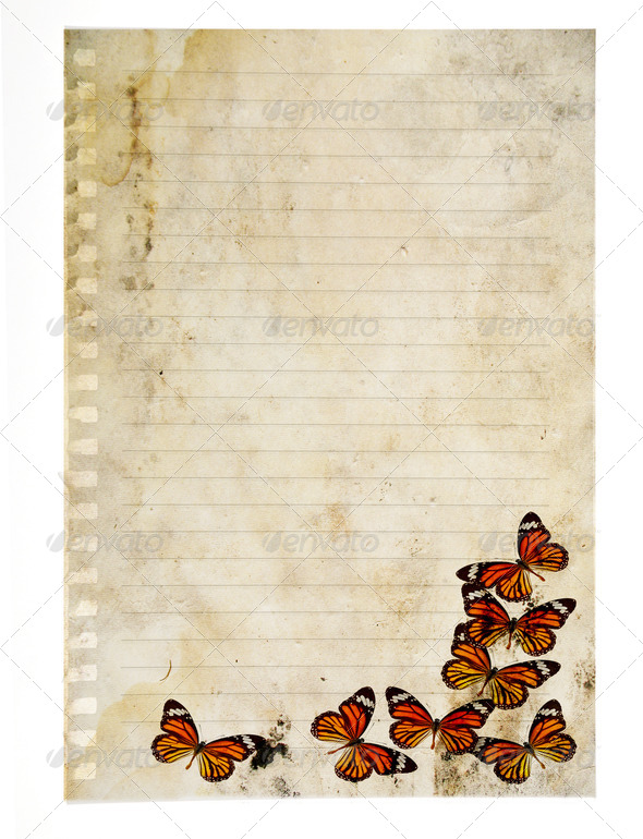 PhotoDune Notebook with Butterfly 3919980