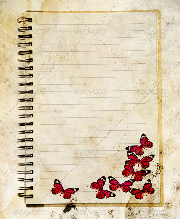 PhotoDune Notebook with Butterfly 3919992