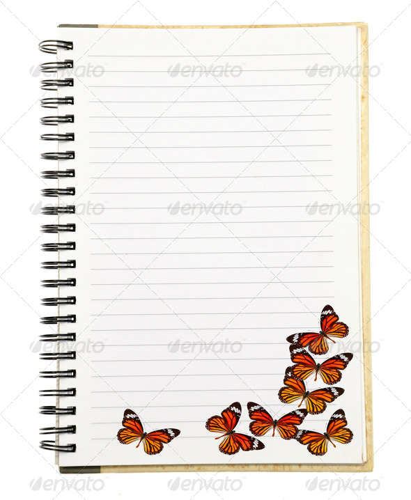 PhotoDune Notebook with Butterfly 3919993