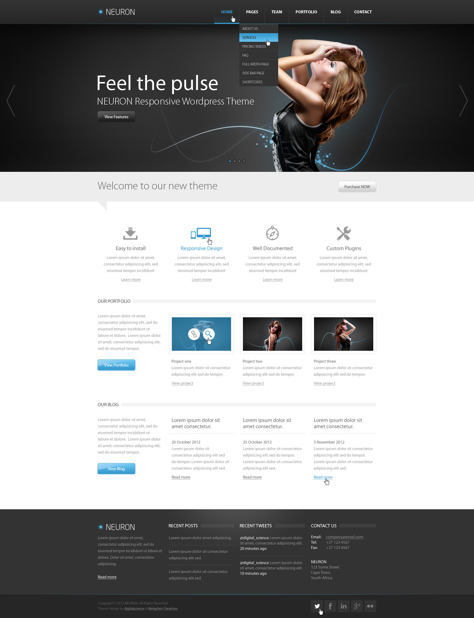 Neuron PSD Theme