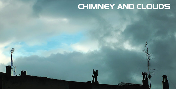 Chimney and Clouds Time Lapse