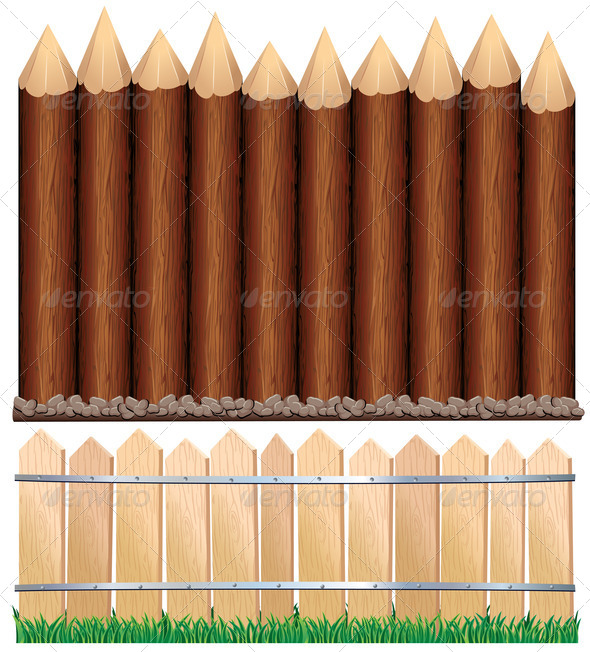 Stock Photography - Wooden Fences Photodune 3921093