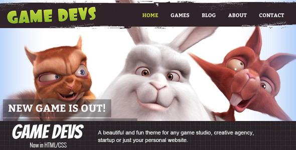 ThemeForest Game Devs HTML 3918345