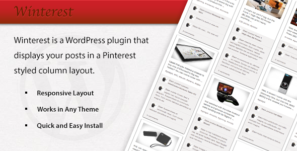 CodeCanyon Winterest WordPress Plugin 3921182