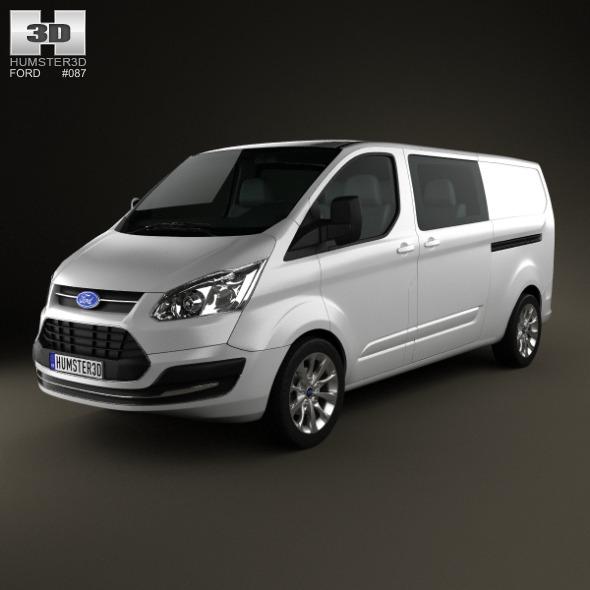 3DOcean Ford Transit Custom Crew Van LWB 2013 3921189