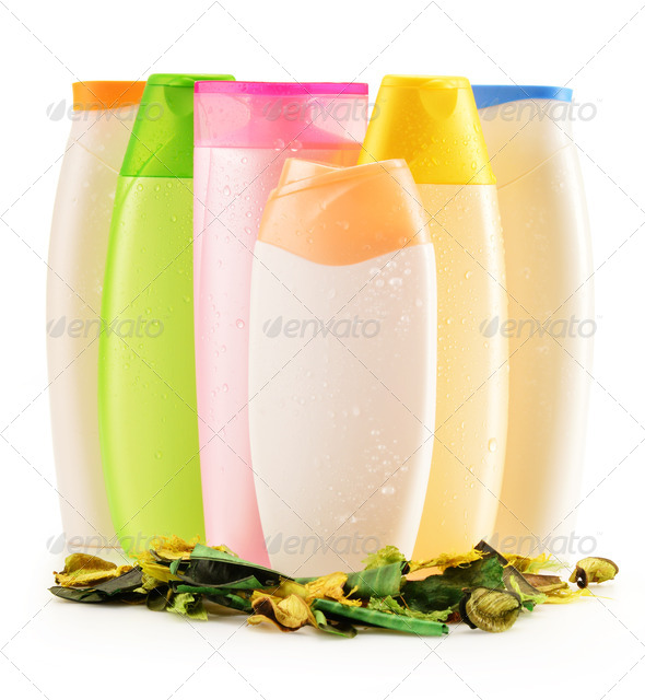 Stock Photography - Plastic bottles of body care and beauty products Photodune 3921700