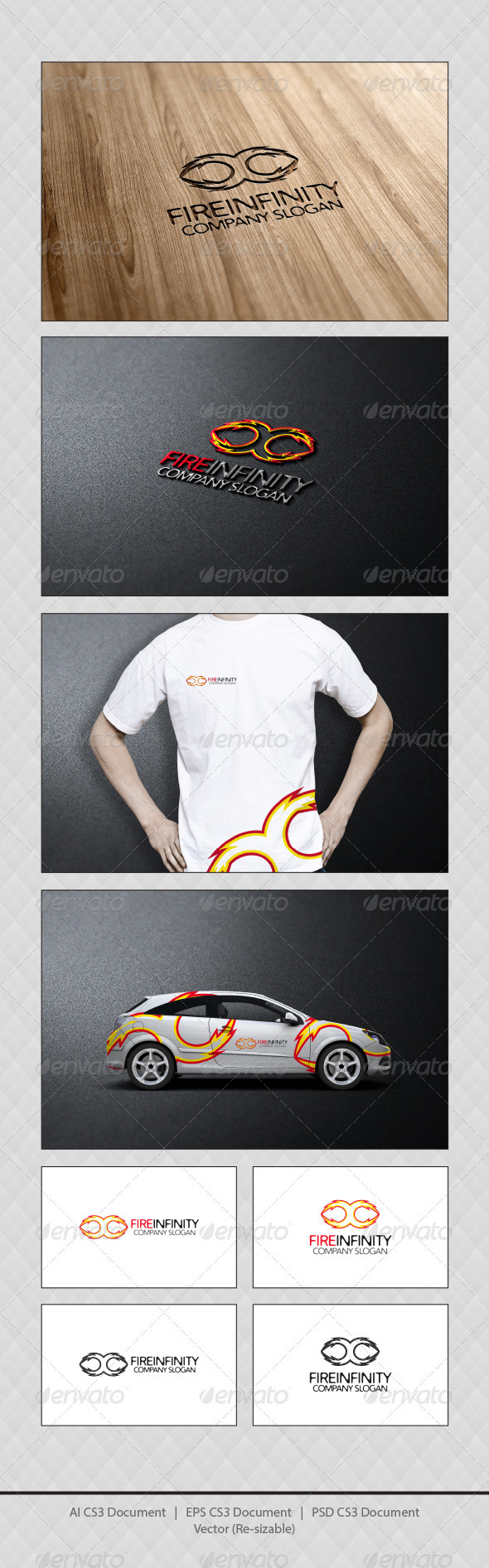 GraphicRiver Fire Infinity Logo Templates 3921641