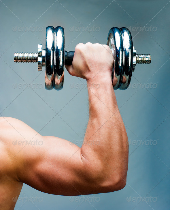 muscular man - Stock Photo - Images