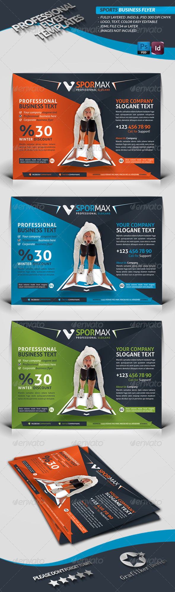 GraphicRiver Sport Template Business Flyer 3921869
