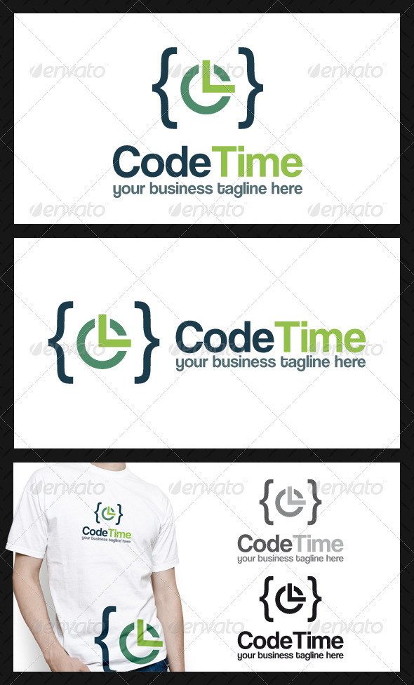 GraphicRiver Code Time Logo Template 3921904