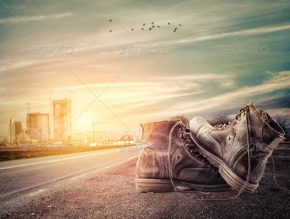 Edge of the road - Stock Photo - Images