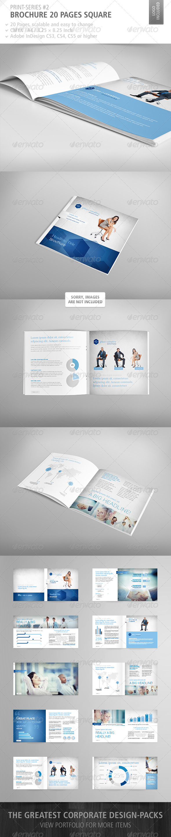 GraphicRiver Brochure Square 20 Pages Print-Series #2 3922884