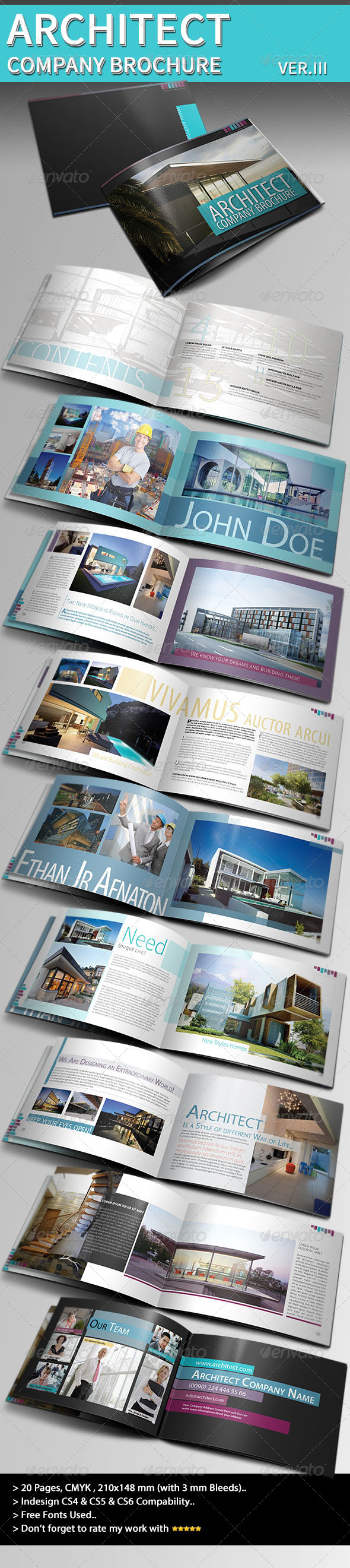 GraphicRiver Architecture Brochure Template Ver.III 3923012