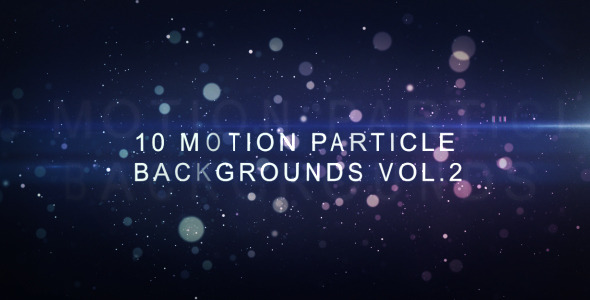 Motion Particle Backgrounds Vol.2