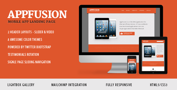 ThemeForest AppFusion Nifty Little Responsive Landing Page 3894454