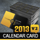 2013 Calendar v2 Business Card - GraphicRiver Item for Sale