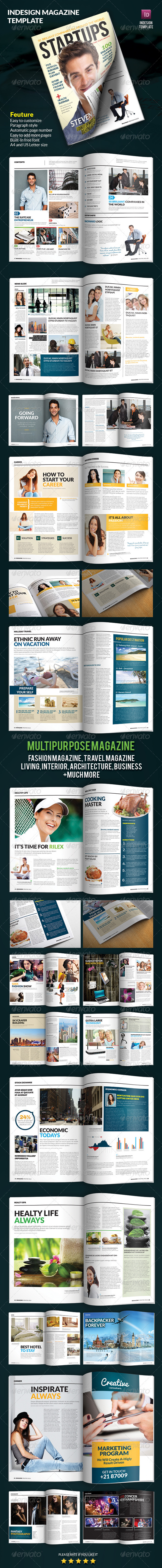 GraphicRiver Indesign Magazine Template 3924183