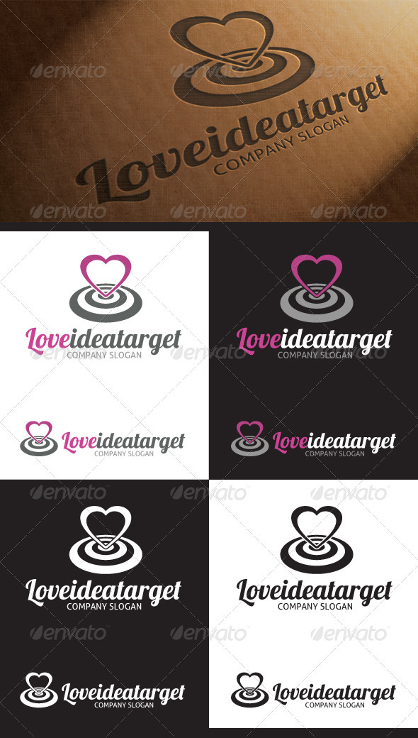 GraphicRiver Love Target Idea Logo 3924310