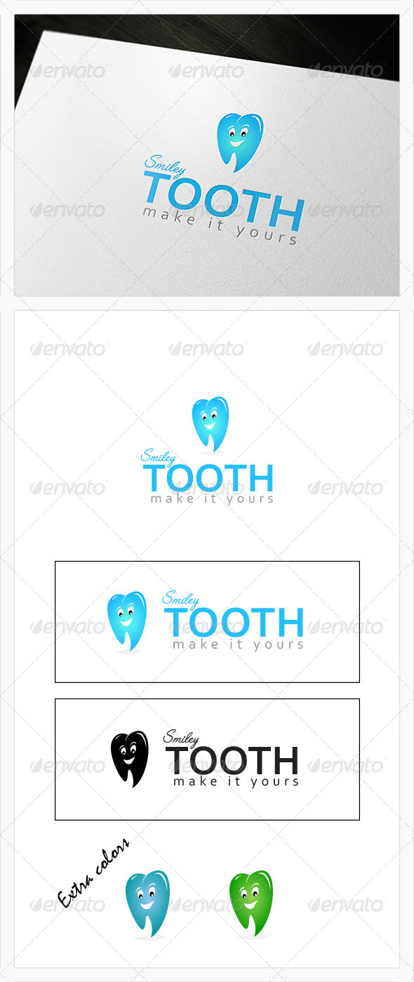 GraphicRiver Smiley Tooth Dental Logo 3924381