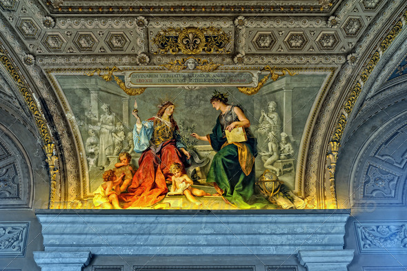 Inside of Vatican museum. - Stock Photo - Images