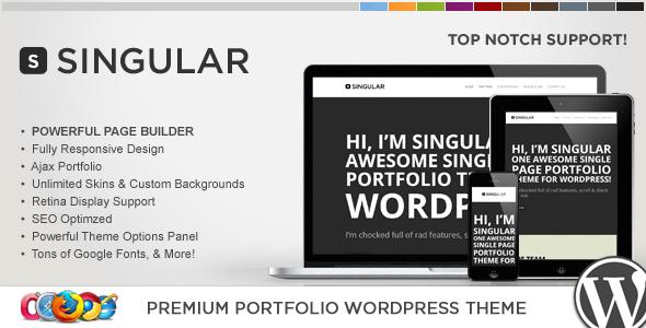 WP Singular - One Page Responsive WordPress Theme