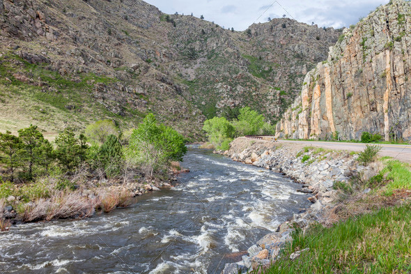 Poudre River Canyon - Stock Photo - Images