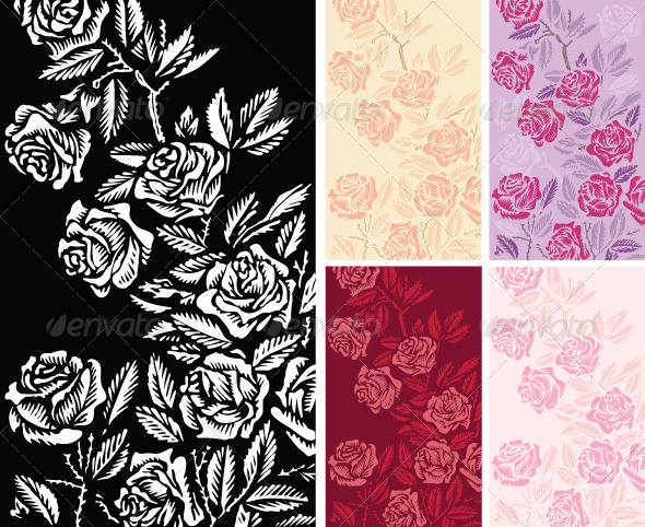 GraphicRiver Backgrounds with Roses 3817303