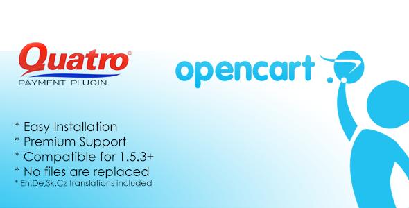 CodeCanyon Quatro Opencart Payment Plugin 3924759