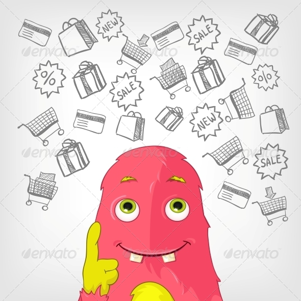GraphicRiver Funny Monster 3924771