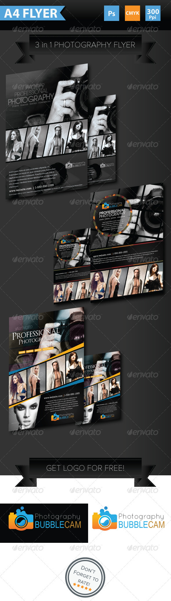 GraphicRiver Minimalist Photography Flyer 3841134