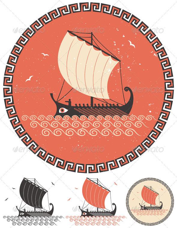 GraphicRiver Greek Ship 3924999