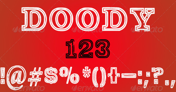 GraphicRiver Doody Font 3925266