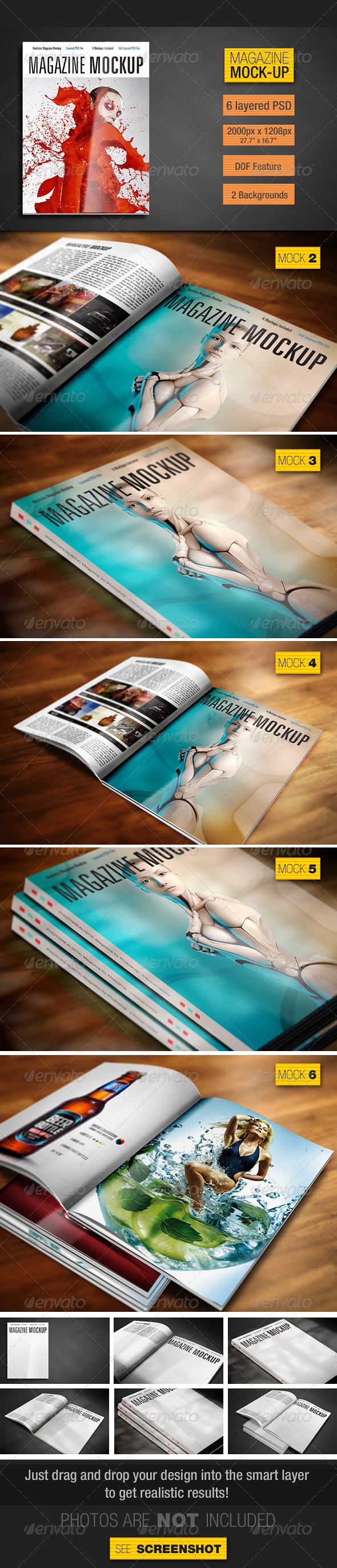 GraphicRiver Magazine Mockup 3925277