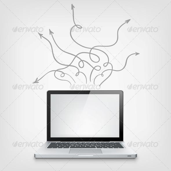 GraphicRiver Laptop Concept 3925370