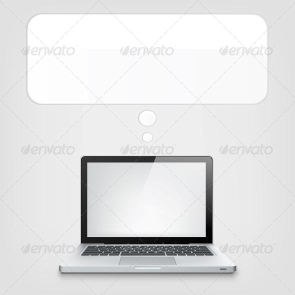 GraphicRiver Laptop Concept 3925372