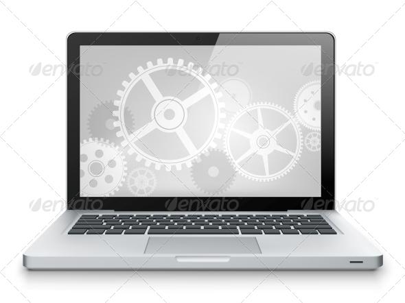 GraphicRiver Laptop Concept 3925387