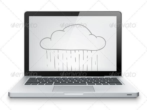 GraphicRiver Laptop Concept 3925392