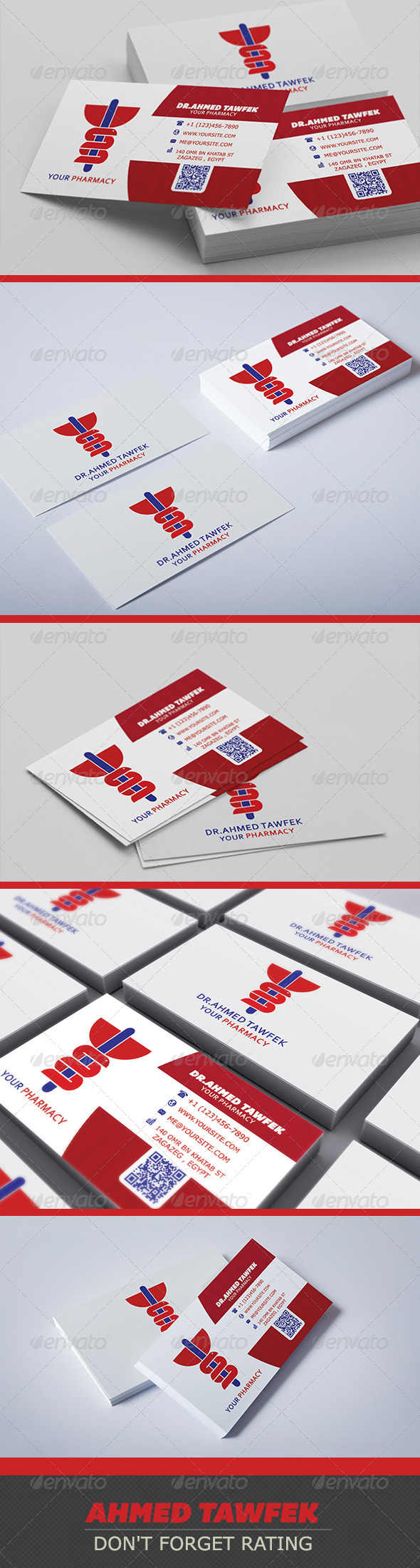 GraphicRiver Pharmacy Business Card 3925636